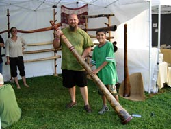 wooden didgeridoo